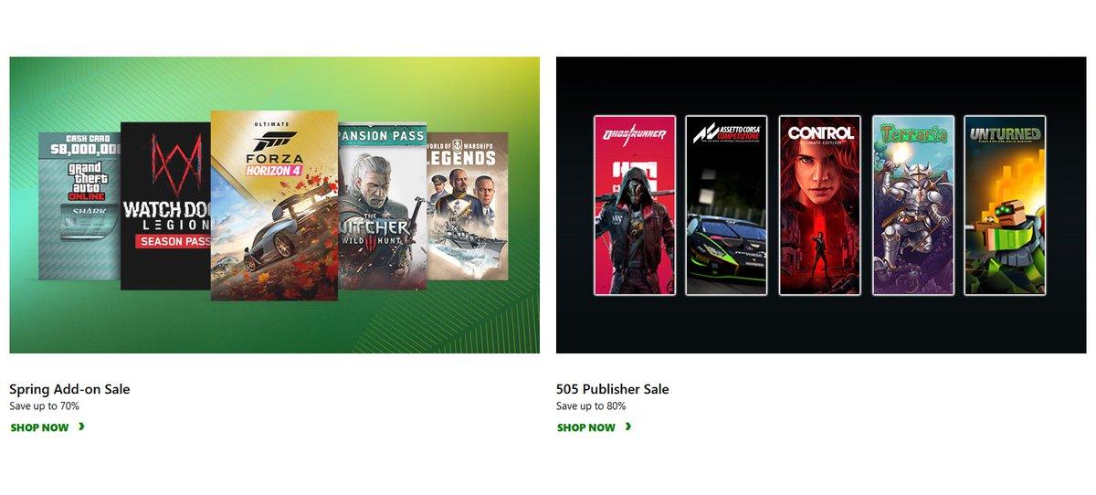 Game DLC Sale & 505 Games Publisher Sale via Xbox.