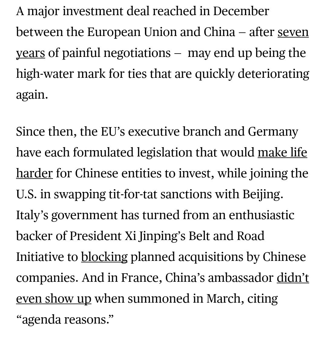 China Tensions Spill Over as Europe Moves Toward Bidens Side Photo