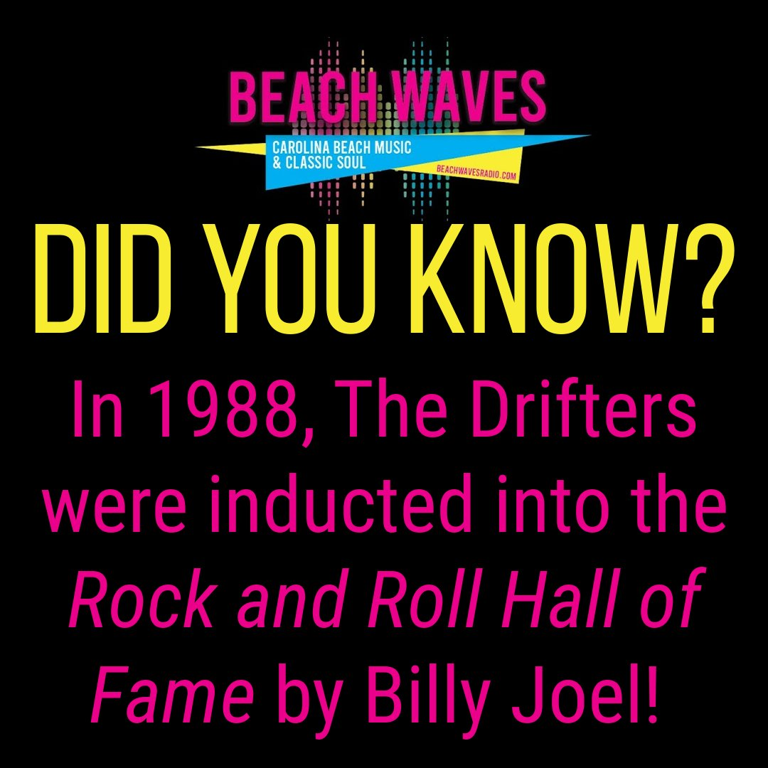 #triviatuesday #tuesdaytrivia #TheDrifters #BillyJoel #RockandRollHallofFame #beachwavesradio #beachmusic #beachmusicradio #ilovebeachmusic #theshag #beachlifestyle #shaggingatthebeach #southernbeachlife #lifeatthebeach #lifesabeach #shagdancing https://t.co/GexcjYEs8o