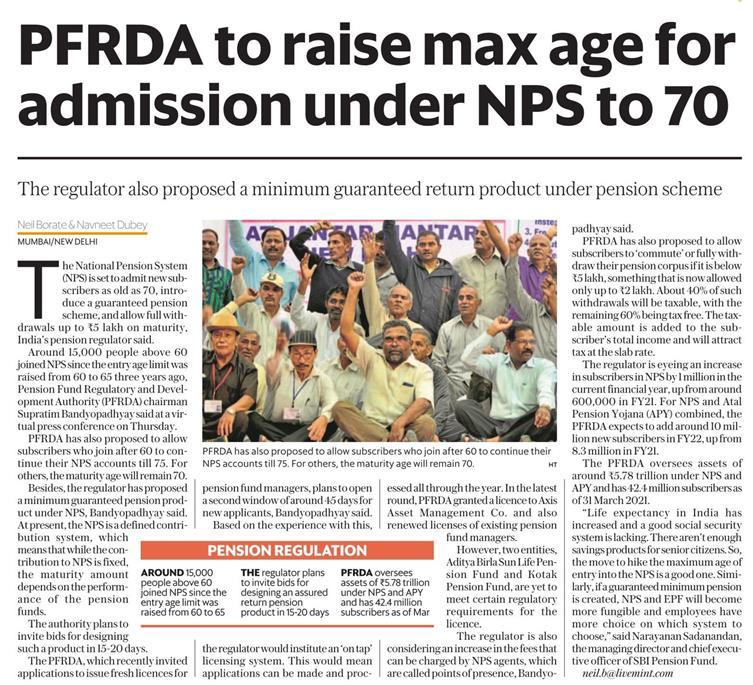 PFRDA - NPS