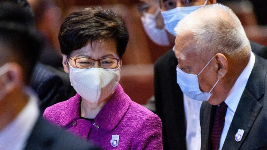 Hong Kong leader flags fake news laws as worries over media freedom grow Photo