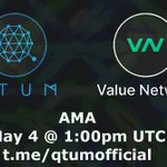 Image for the Tweet beginning: #Qtum #Cryptocurrency #AMA Qtum< >Value Network