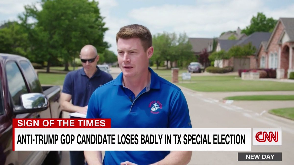 """An anti-Trump GOP congressional candidate in Texas lost his race and says he is worried about the future of his party.  Some people won't """"call themselves Republicans if we don't move past...this horrible cult of personality we built up around Donald Trump,"""" Michael Wood says. https://t.co/48tpJmHW2y"""