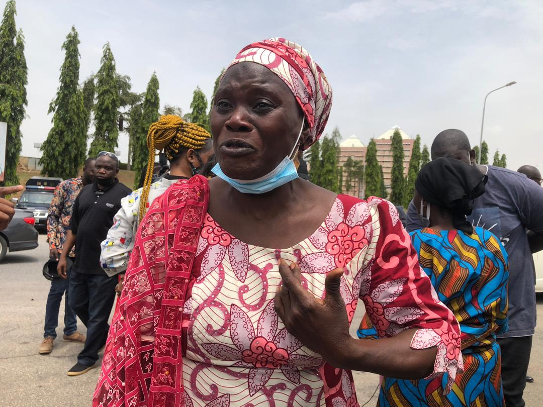 Photos: Parents Of Abducted Kaduna Varsity Students Protest At National Assembly