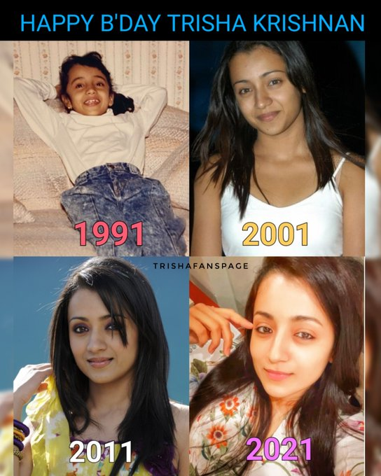 Happy birthday to the Trisha krishnan wishing you all the happiness in life god bless you
