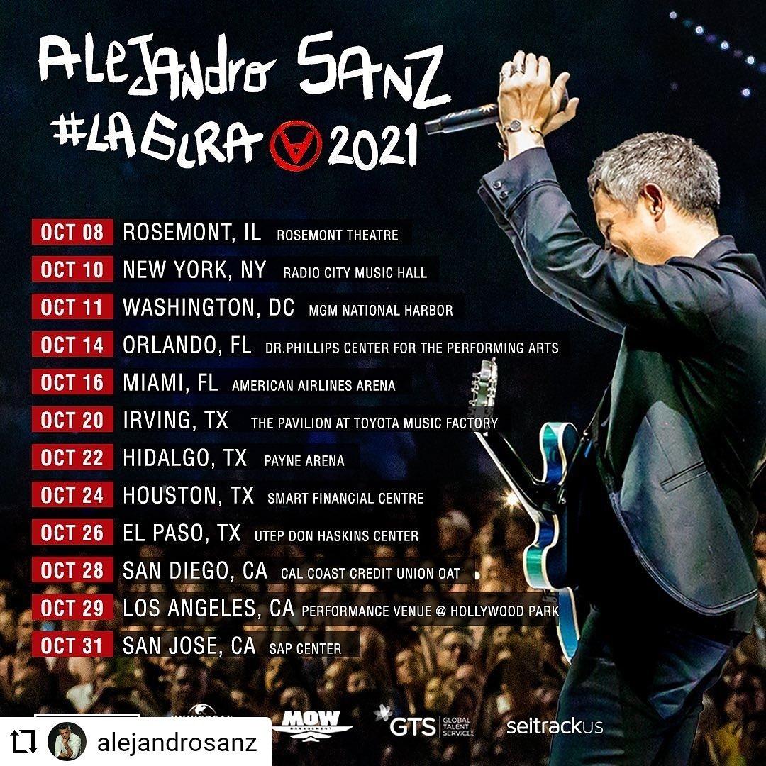 Y tú?  Ya tienes tu boleto 🎫 #Notelopuedesperder @AlejandroSanz en concierto 😍 #LaGiraUSA 2021 🇺🇸  💥 Las entradas disponibles💥 Más info 👉