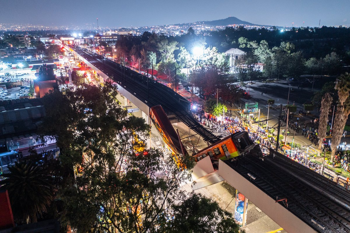 A subway overpass collapsed on Monday night in Mexico City, sending the cars of a passenger train plunging to the ground and killing more than 20 people, the city's mayor said. Here's what we know. https://t.co/8MtGwcR6rW https://t.co/cynbvTfm6a
