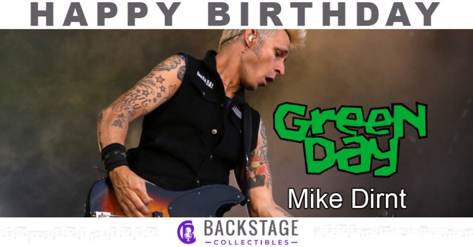 Happy birthday to Green Day bassist, Mike Dirnt!