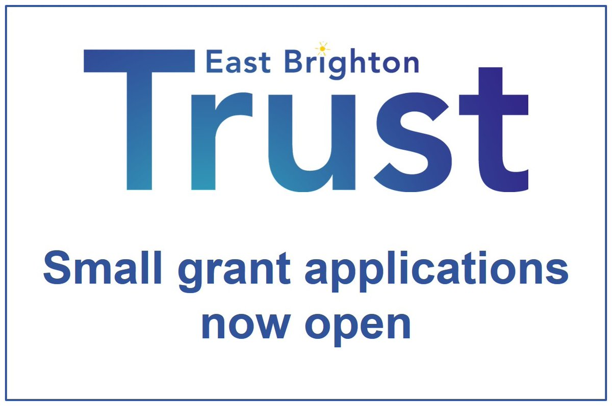 Grants of £500 available for groups in East Brighton from our Summer small grants round. Make sure you apply by 5pm this Friday...