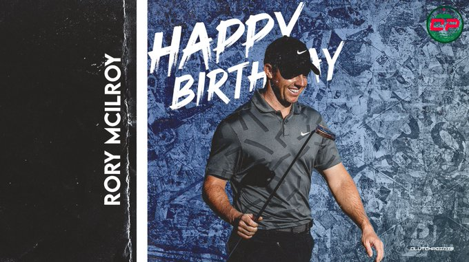 Let\s all greet 18-time PGA Tour winner Rory McIlroy a happy birthday!