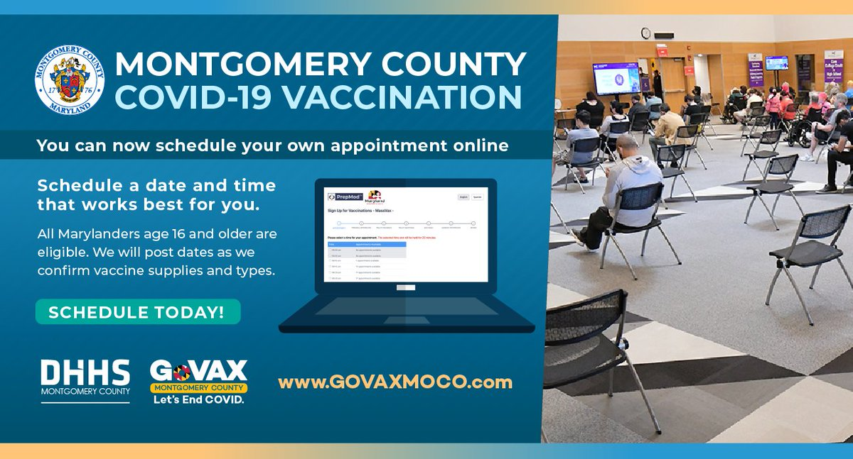 Don't miss your shot. Getting your #COVID19 vaccine is free, easy and now more convenient. Do it to protect yourself, your loved ones & your community.  Learn more: https://t.co/NCa6RbBkfI . #GoVaxMontgomery https://t.co/f4nBVglX1w
