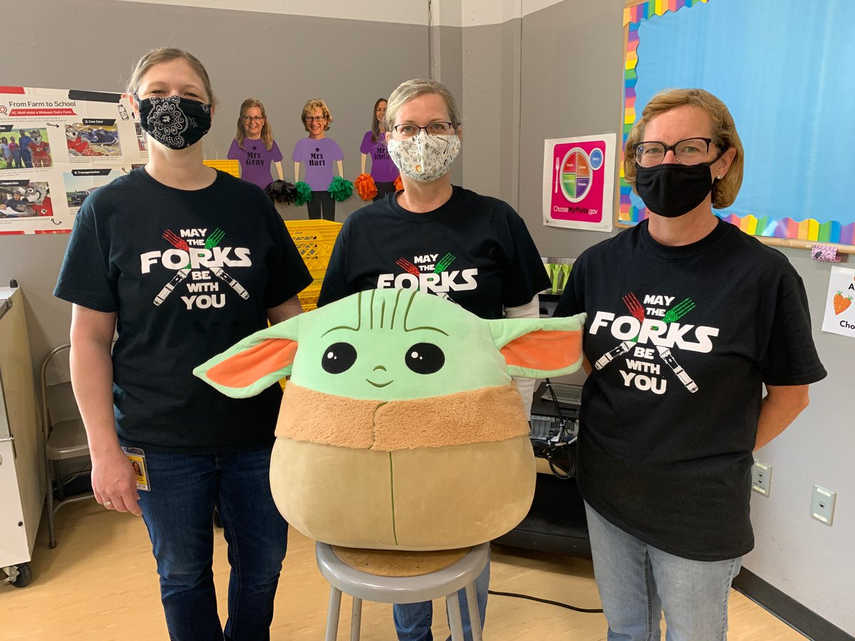 The force is strong with these superheroes!  Friday is School Lunch Super Hero day - give them a virtual high five!