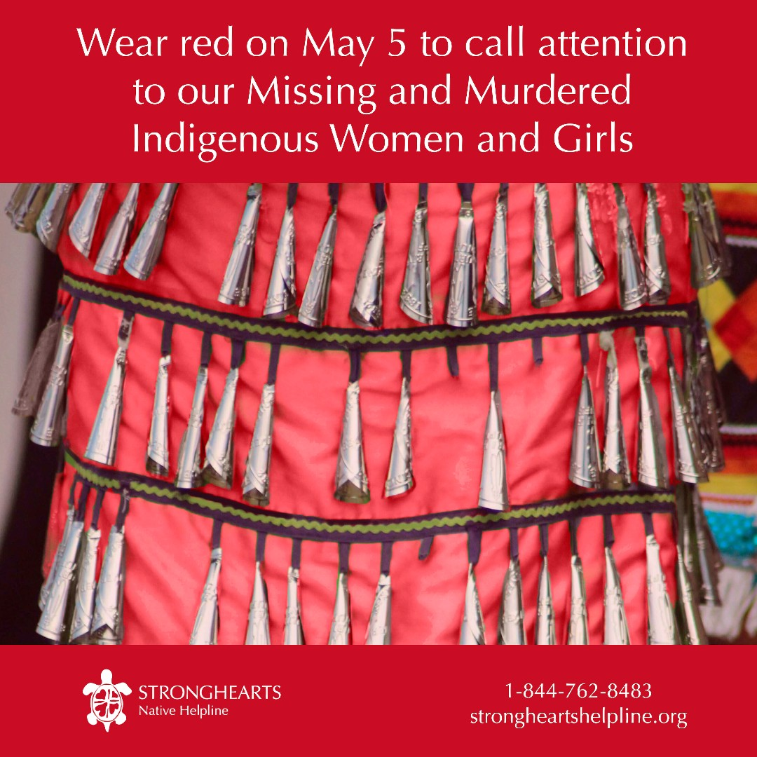 Wear red tomorrow in honor of our Missing and Murdered Indigenous relatives. ❤️  #MMIW #MMIWG #WearRed https://t.co/fTonZlBkGT