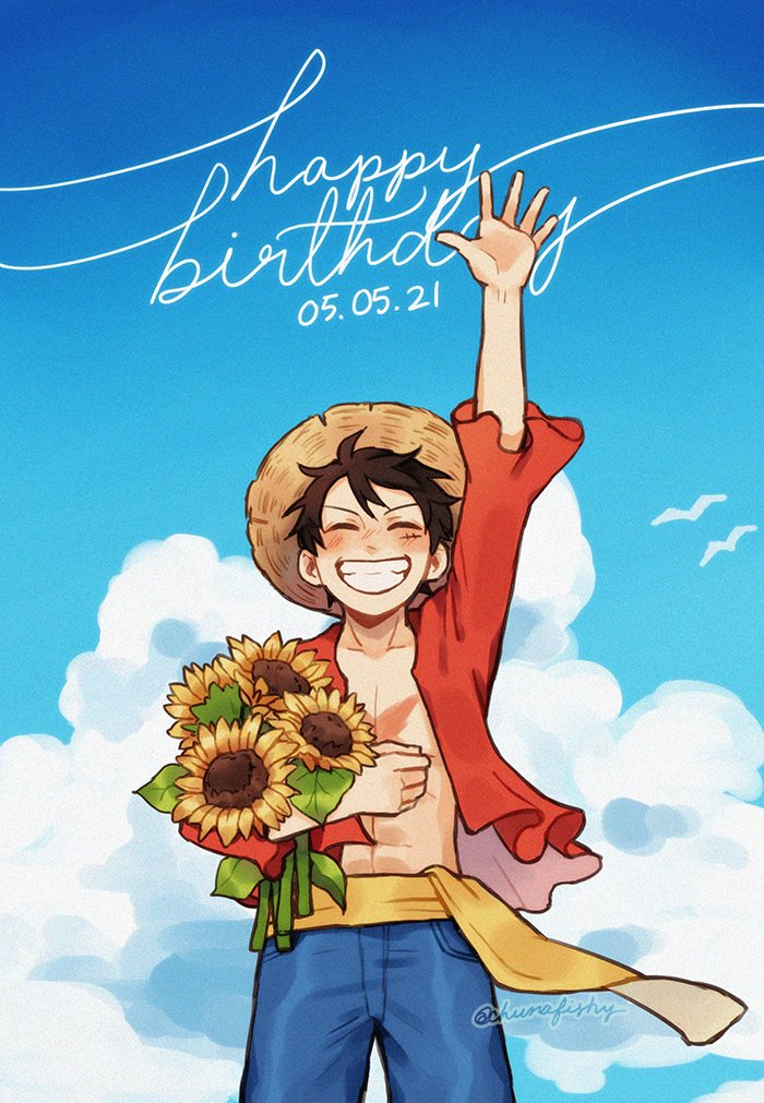 Happy Luffy Day!!   thank you for bringing me so much joy this past year! ❤️❤️❤️ #ルフィ誕生祭2021 #ONEPIECE