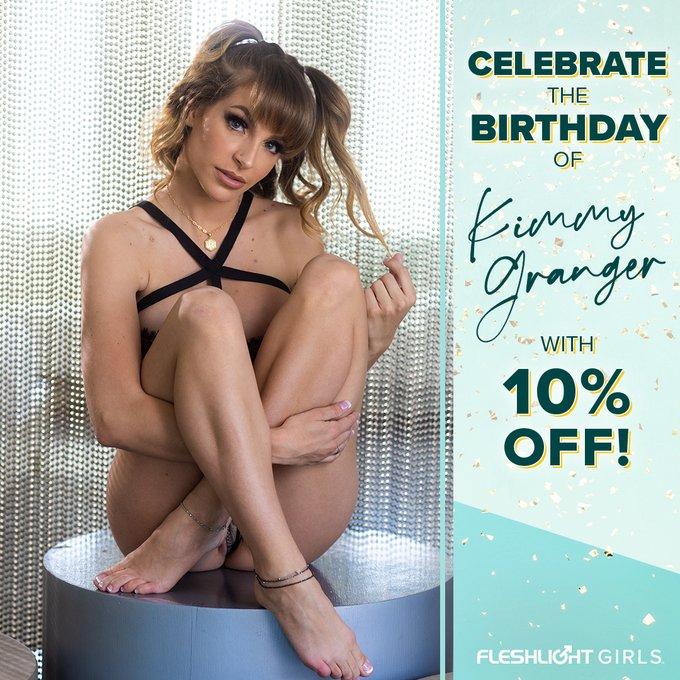 Celebrate Fleshlight Girl @kimmygrangerxxx's birthday ALL MONTH with 10% off her Fleshlight by using