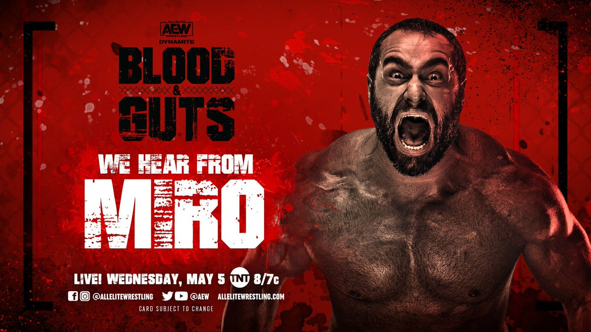 Miro Announced For AEW Blood & Guts Dynamite