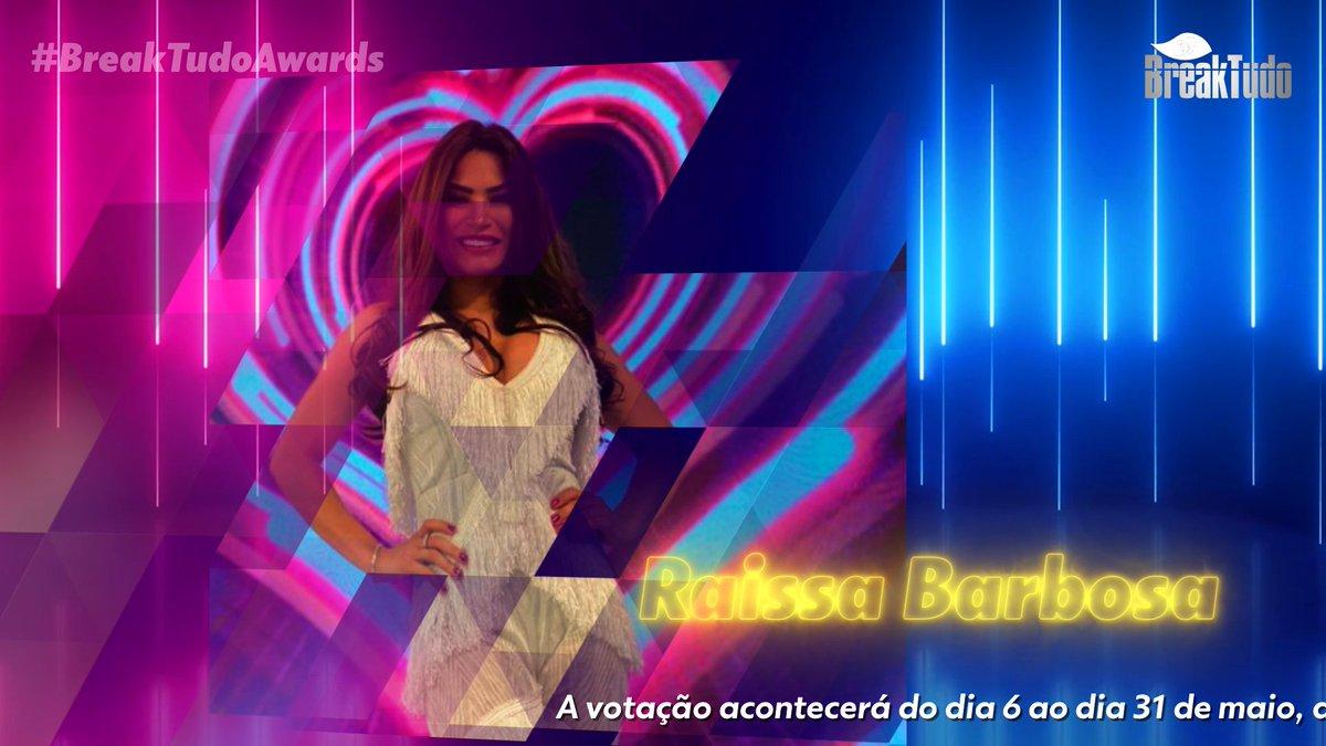 Raissa Barbosa está pré-indicada a Melhor Reality Star no BreakTudo Awards 2021. Votações começam em 06/05 e os 8 mais votados serão os finalistas e oficialmente indicados deste ano na categoria. https://t.co/6eaq25Re40 #RaissaBarbosa #BreakTudoAwards @raissabarbosar https://t.co/wkmwIEr4Ly