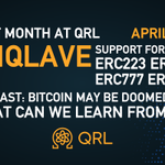 Image for the Tweet beginning: Last Month at QRL—April 2021 • EnQlave