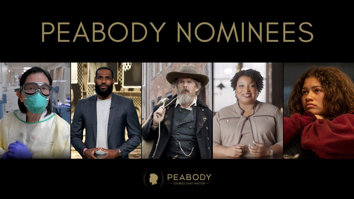 The Peabody Awards is excited to announce 60 nominees that represent the most compelling and empowering stories in broadcasting and streaming media from 2020.