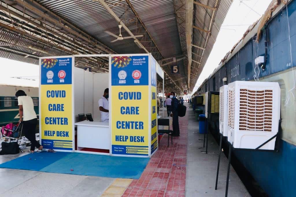 Railway deploys 19 Isolation Coaches at Sabarmati & Chandlodiya