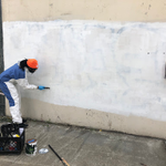 Image for the Tweet beginning: Our Ambassadors painting over graffiti