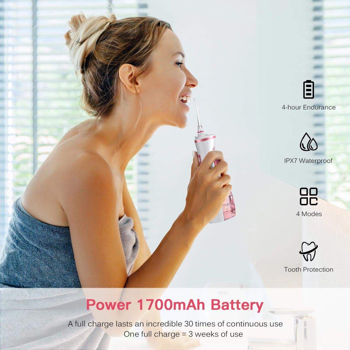 ad: $15  (32% off)  Cordless Dental Water Flosser  Link0 Link0