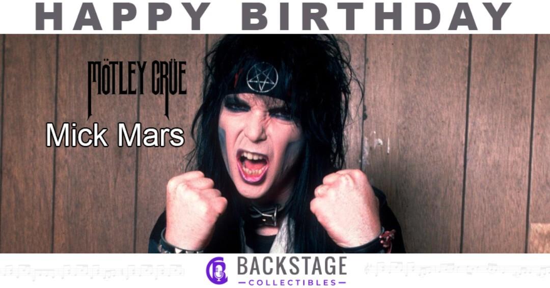 Happy birthday to Motley Crue guitarist, Mick Mars!