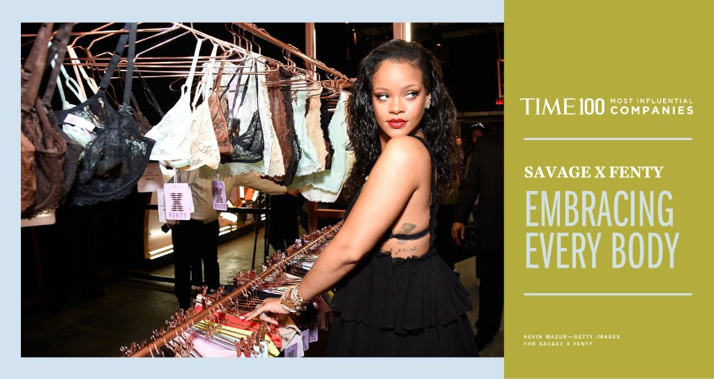 Founded in 2018 by @rihanna, Savage X Fenty is a new kind of lingerie company: one with body positivity at its core.  The online brand's ethos is resonating: its sales grew by more than 200% in 2020 despite the pandemic #TIME100Companies https://t.co/8q0EzDTQ5g https://t.co/vtOqnnodOZ