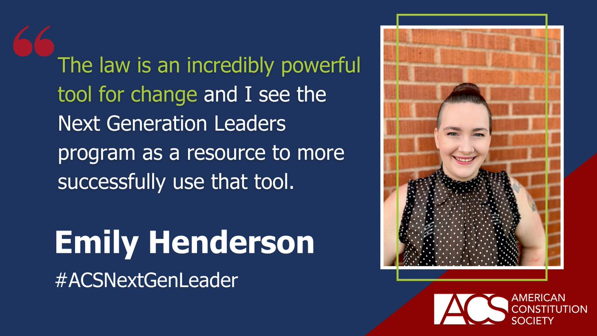 The future of the progressive legal community is ACS's Next Generation Leaders: Class of 2021. Find out more and welcome the 2021 class here: https://t.co/mZYAksgWTB #ACSNextGenLeader https://t.co/bZFvJWbw2b