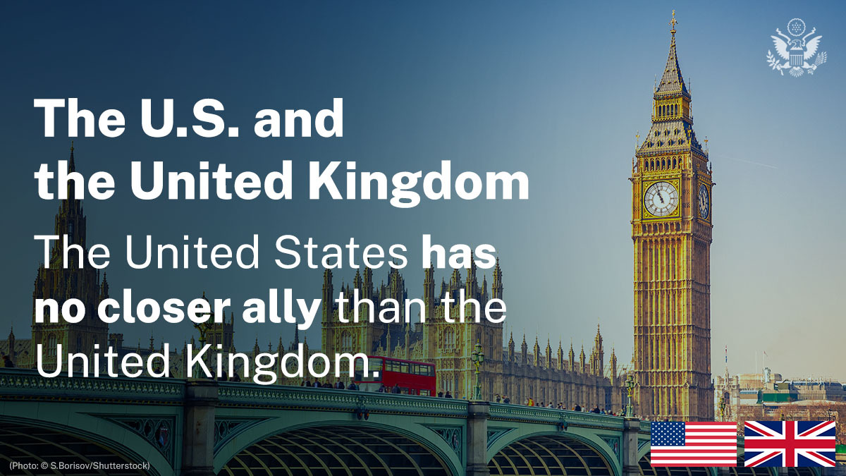 The United States has no closer ally than the United Kingdom. Our exceptional partnership, born of common values and a shared language and history, is renewed through daily cooperation on a range of security, economic, and other global issues. https://t.co/oj1lJdQr6y https://t.co/qYJv2zHQDq