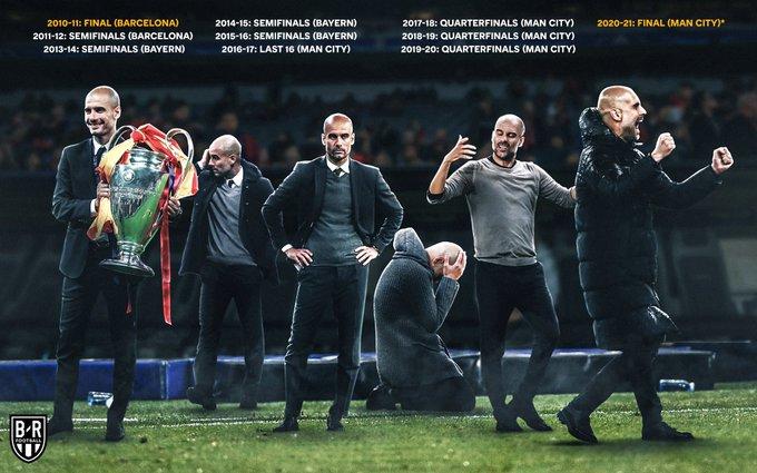 Pep Guardiola kembali ke final Liga Champions setelah terakhir kali 10 tahun lalu