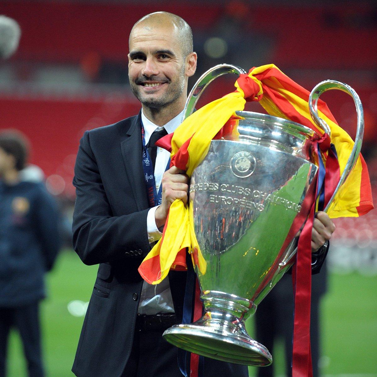10 years since Josep Guardiola last reached the Champions League final as a coach...  2⃣0⃣0⃣9⃣🏆 2⃣0⃣1⃣1⃣🏆 2⃣0⃣2⃣1⃣❓  #UCL https://t.co/qiVgPfWCC5