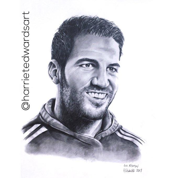 Happy Birthday My pencil portrait of the legendary cesc fabregas