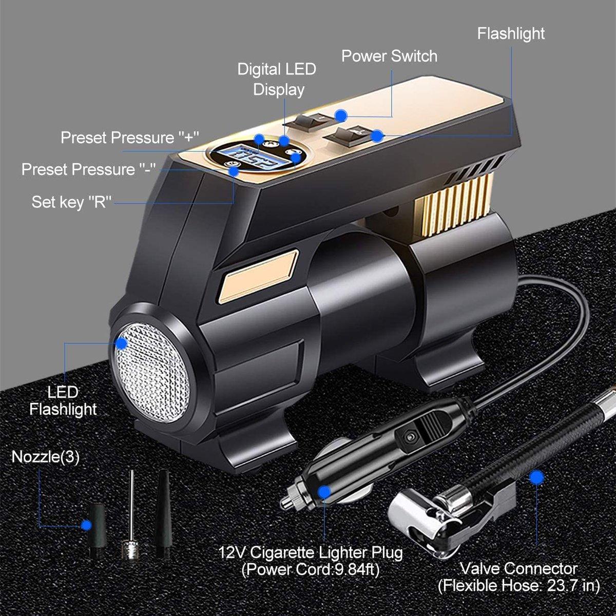 ad: $14.99 (50% off)   12V DC Portable Digital Tire Inflator  Link0 Link0
