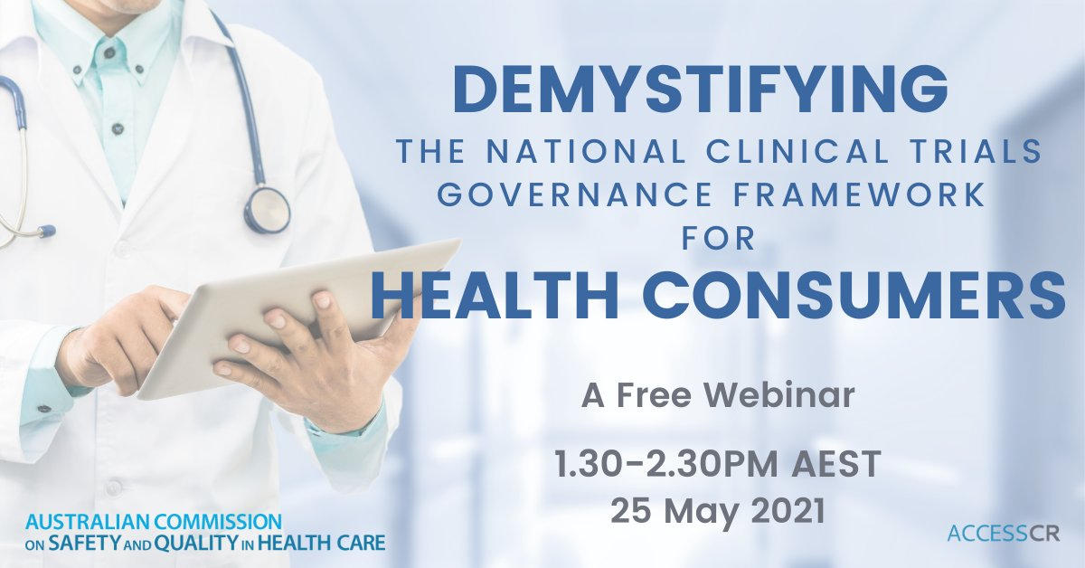 Calling all patients, carers and advocates..this is a great opportunity to learn more about the new national clinical trials governance framework.