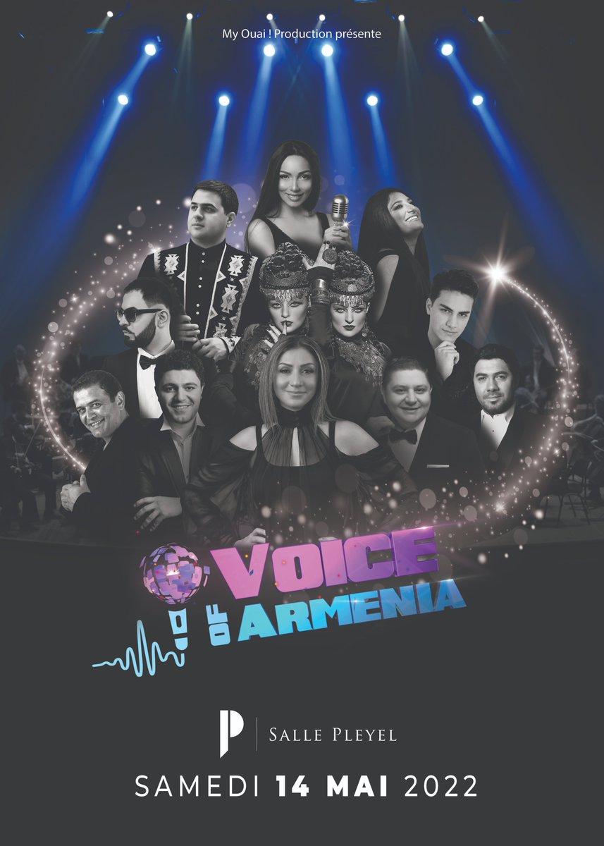 ➖VOICE OF ARMENIA➖ Concert reporté - Communiqué ⬇️  Compte tenu de la situation sanitaire actuelle, le concert de #VoiceofArmenia initialement prévu 29/05 est reporté au samedi 14 mai 2022.  Les bille