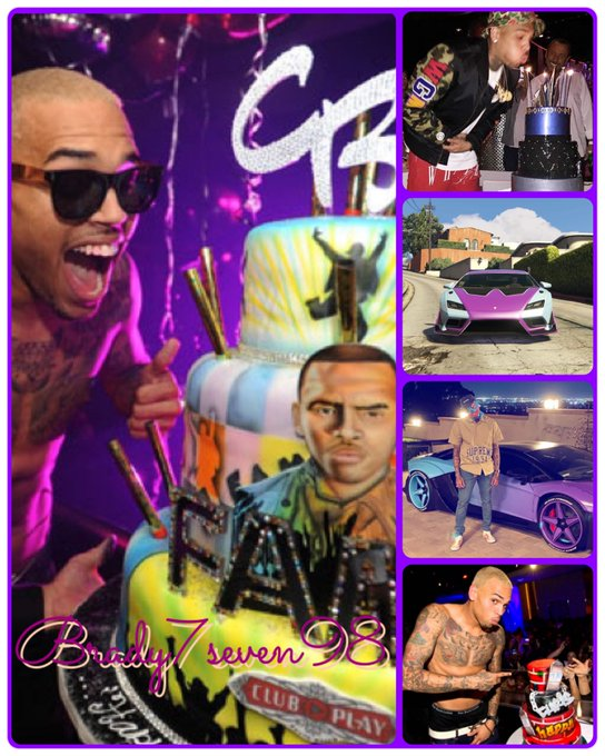 Happy Birthday. Chris Brown.  Car now available on Brady7seven98 : Instagram