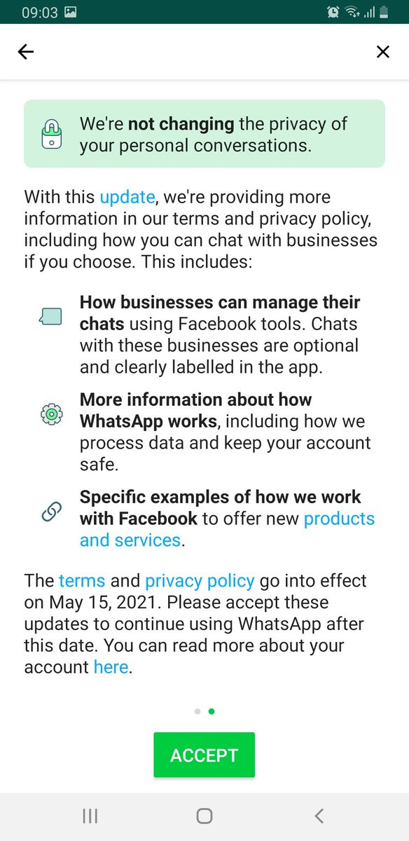 #Whatsapp updating it's privacy policy amongst #COVIDEmergencyIndia, when people are using the platform for supporting each other, is opportunistic and shameful. Hope the concerned authorities intervene and put it under abeyance, atleast for some time #privacy https://t.co/xwMVm2Z2ti
