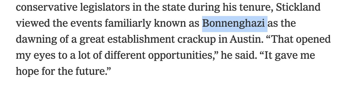 Finally got around to reading the Times Mag piece on the Texas GOP and it's a proud day — the Grey Lady went with Bonnenghazi over Bonnghazi.  #ifyouknowyouknow https://t.co/8CZmRoaMTU