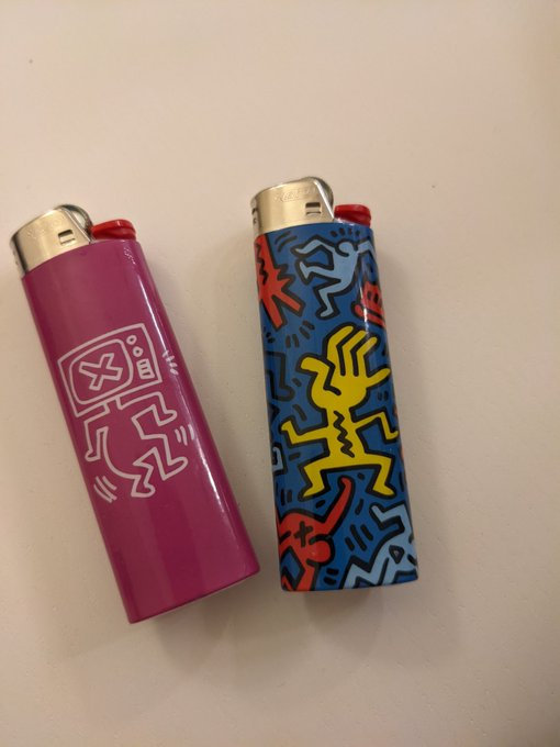 Happy Keith Haring bday from me and my lighters