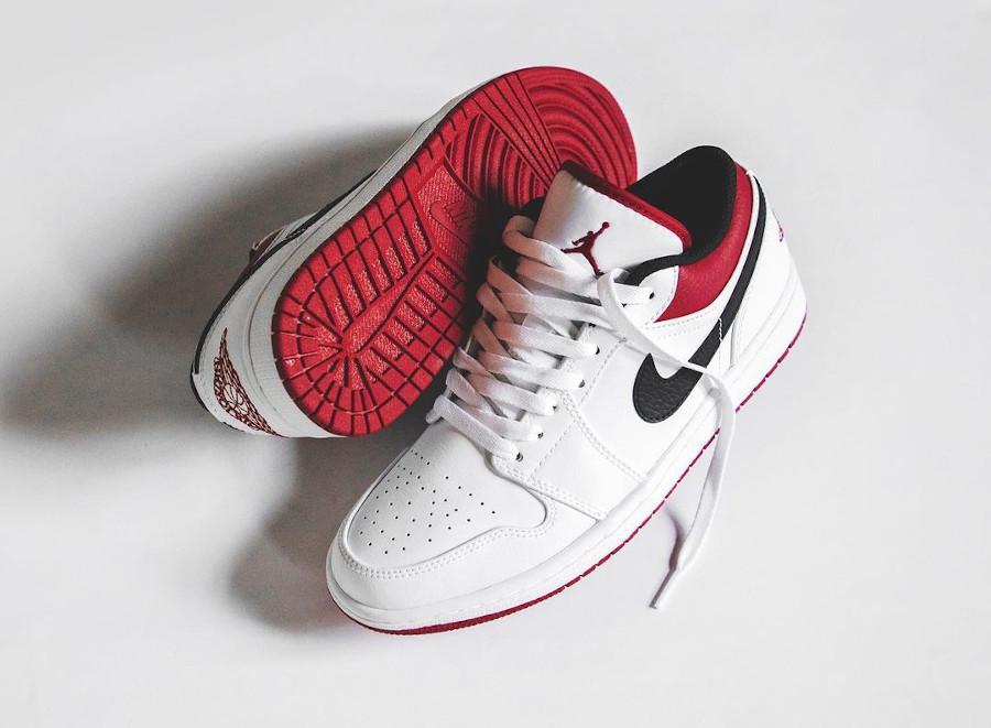 Select sizes carting Air Jordan 1 Low 'White/Gym Red' =