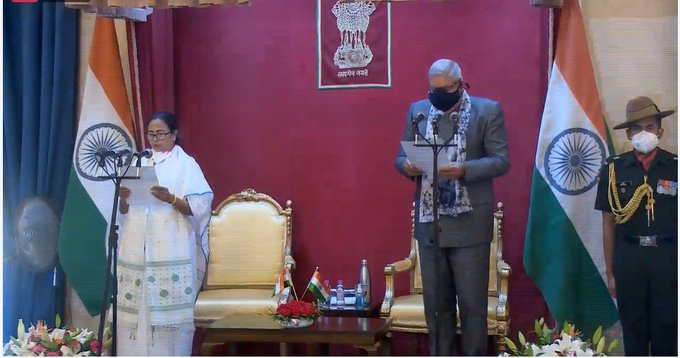 Mamata Banerjee takes oath as West Bengal CM for 3rd consecutive term