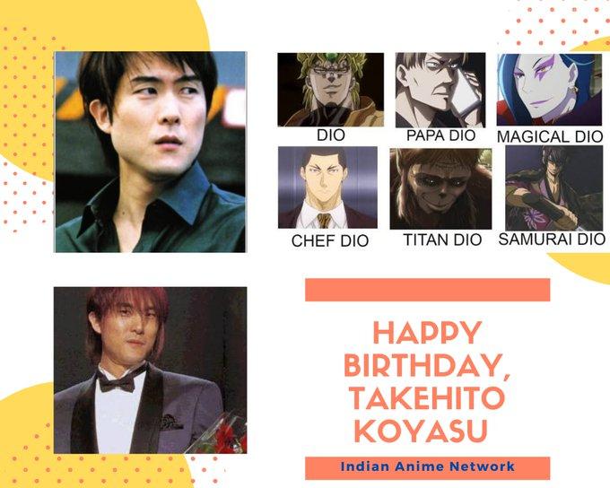 Happy Birthday to the voice of Dio Brando, Takehito Koyasu