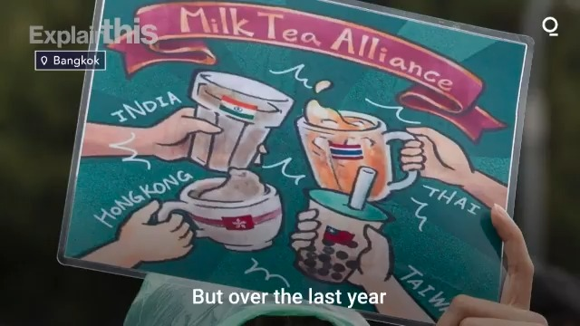 Image for the Tweet beginning: The #MilkTeaAlliance has grown from