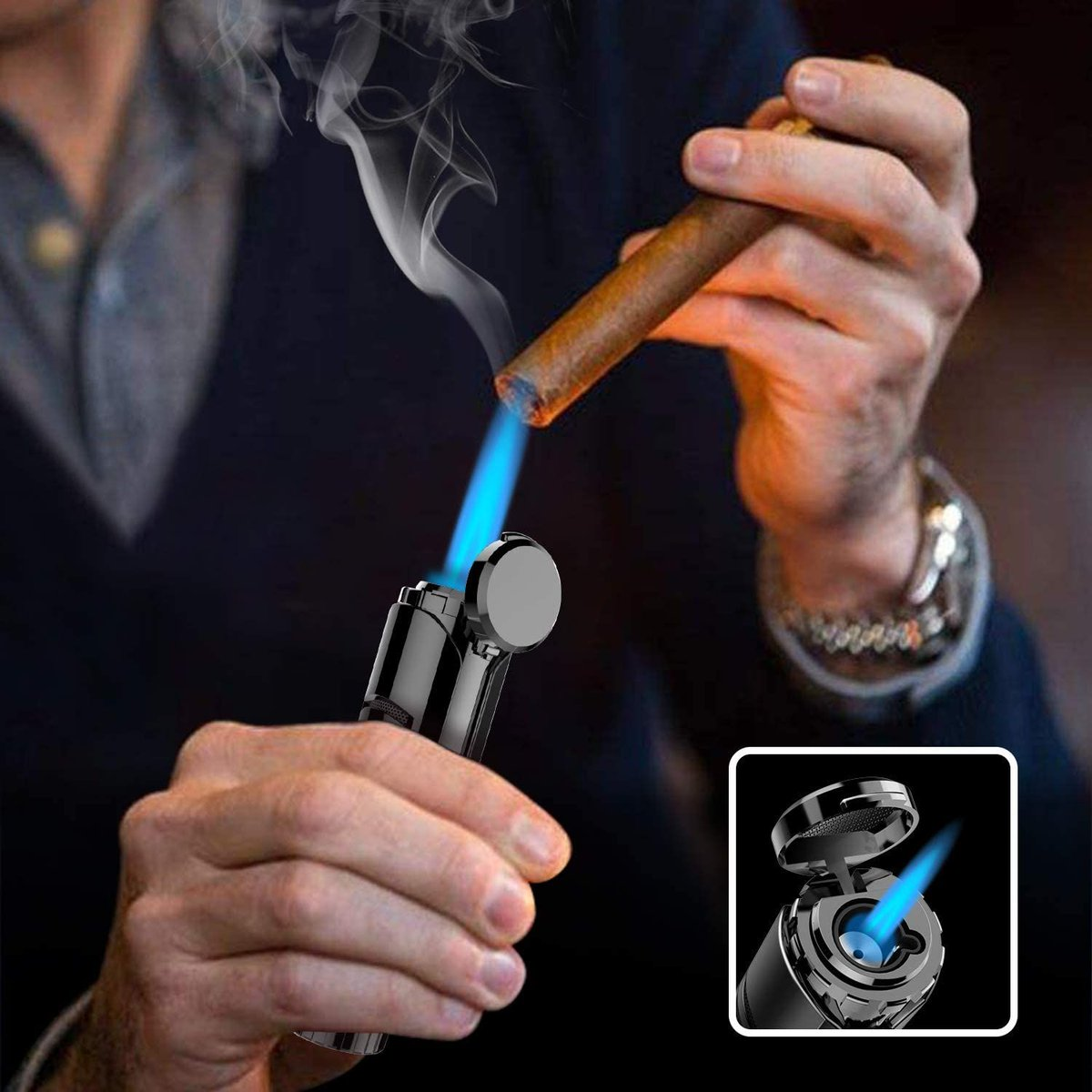 ad: $6.92 (57% off)   Windproof Torch Cigar Lighter   Link0 Link0
