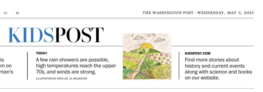 Congratulations to this ATS 4th grader who's work was published in today's KidsPost! We are very proud of you 👏<a target='_blank' href='http://twitter.com/washingtonpost'>@washingtonpost</a> <a target='_blank' href='http://twitter.com/APS_ATS'>@APS_ATS</a> <a target='_blank' href='http://twitter.com/APSArts'>@APSArts</a> <a target='_blank' href='http://twitter.com/BarredArte'>@BarredArte</a> <a target='_blank' href='http://twitter.com/CBarronDC'>@CBarronDC</a> <a target='_blank' href='http://search.twitter.com/search?q=APSartsthrive'><a target='_blank' href='https://twitter.com/hashtag/APSartsthrive?src=hash'>#APSartsthrive</a></a> <a target='_blank' href='http://twitter.com/ats_pta'>@ats_pta</a> <a target='_blank' href='http://twitter.com/MyRedCooper'>@MyRedCooper</a> <a target='_blank' href='https://t.co/9PEotaYYPj'>https://t.co/9PEotaYYPj</a>