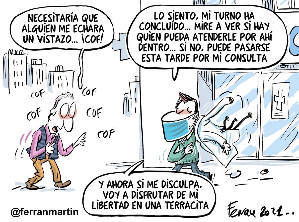 RT @ferranmartin: Más cañas y libertad... para todos. #viñetas #libertad #ayuso #graciasSanitarios #viñetas https://t.co/9xcccbgRs8