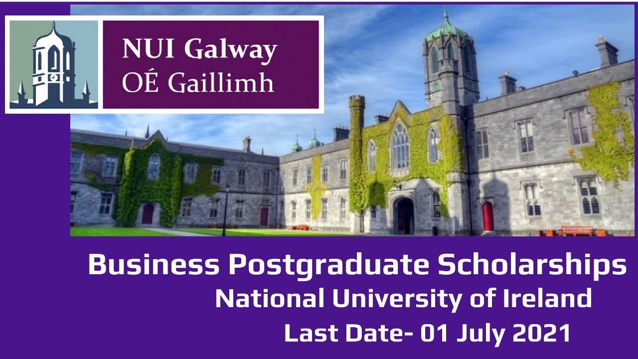 Business Postgraduate Scholarships by National University of Ireland