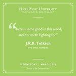 [CALENDAR] #DailyMotivation from J.R.R. Tolkien. #HPU365