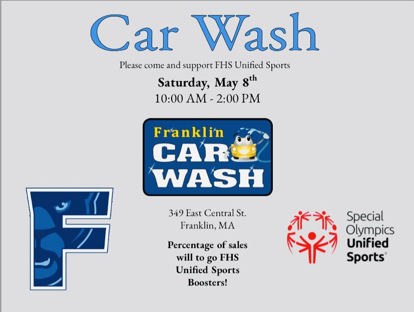 Car wash to fund raise for Franklin Unified Boosters - May 8